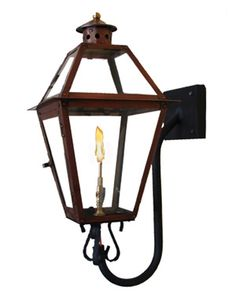 PRO SERIES Flush Mount French Quarter with FLO-GLO STEALTH IGNITER | Gas Light Pro - French Quarter Lanterns