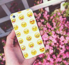 Emoji iPhone Case — Kollage on We Heart It Emoji Phone Cases, Cool Iphone Cases, Cool Cases, Diy Phone Case, Cute Phone Cases, Iphone 4, Apple Iphone, Phone Covers, Computers