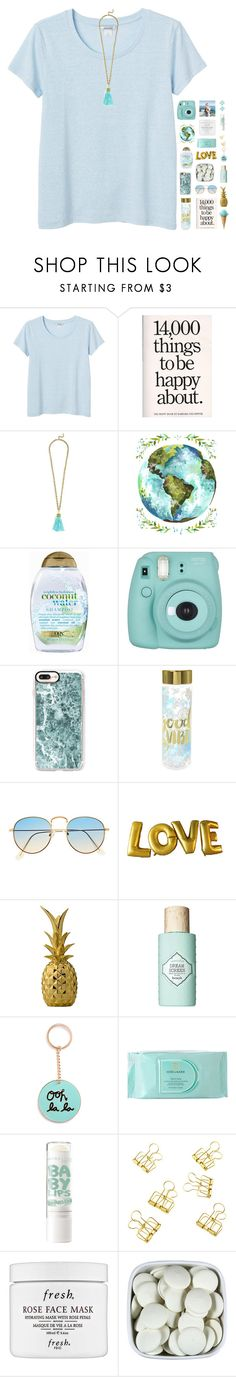"""❁ live in the sunshine"" by tropical-girl-xo ❤ liked on Polyvore featuring Monki, BaubleBar, Organix, Fujifilm, Casetify, Bloomingville, Benefit, Estée Lauder, Fresh and Kate Spade"
