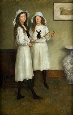 ▫Duets▫groups of two in art and photos - Brian Hatton | Portrait of the Artist's Sisters