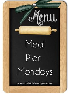 Menu Planning for the Weekday #yahoofood - Daily Dish Recipes