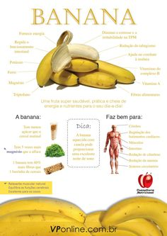 A banana a day dispenses the doctor! Health And Nutrition, Health And Wellness, Health Fitness, Healthy Tips, Healthy Snacks, Healthy Recipes, Smoothies Detox, Flora, Menu Dieta