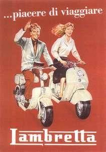 Lambretta Scooter Poster