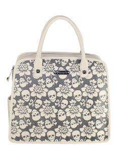 Skull Lace Handbag from Loungefly.