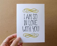 i am so in love with you. card from letterhappy on etsy.com #stationery #print #love