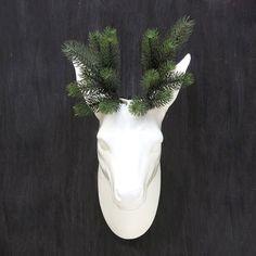 O Deer! Wall Vase in White