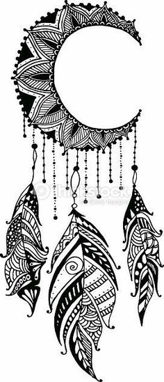 moon mandala dreamcatcher with feathers. Clipart vectoriel : Hand-drawn moon mandala dreamcatcher with feathers. Ethnic illustration, tribalClipart vectoriel : Hand-drawn moon mandala dreamcatcher with feathers. Mandala Art, Mandala Design, Moon Mandala, Mandalas Painting, Mandalas Drawing, Mandala Tattoo, Mandala Doodle, Easy Mandala Drawing, Mandala Feather