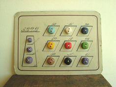 button card, 1920s