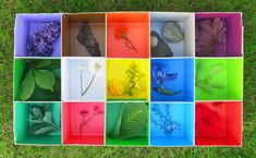 This is so creative and simple. Another use for paint chips. Nature Activities, Spring Activities, Activities For Kids, Projects For Kids, Craft Projects, Crafts For Kids, Kid N Play, Scavenger Hunt For Kids, Homemade Toys