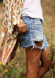 Denim shorts are a summer must-have