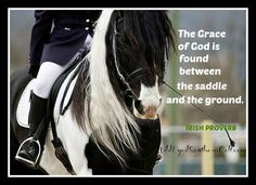Love of the horse runs deep in Ireland: The Grace of God is found between the saddle and the ground. #horse #Irish #Ireland #IrishProverb