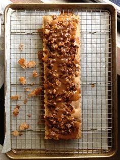 Maple Brown Butter Pecan Tart with Brown Butter Caramel [www.bakerbydesign.com]