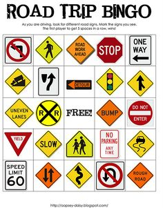 road trip bingo teach children road saftey in a fun and safe way