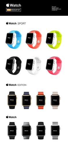 Apple Watch Free Mockups Kit on Behance