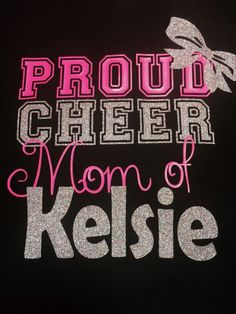 Proud Cheer Mom T-shirt by TableTopsandTiaras on Etsy or Aunt. Dance Mom Shirts, Cheer Mom Shirts, Cheerleading Shirts, Cheerleading Quotes, Cheer Gifts, Cheer Bows, Football Cheer, Football Shirts, Softball
