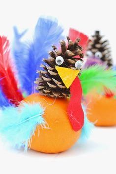 Pumpkin & Pine Cone Turkey Craft