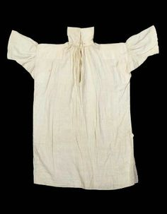 Man's shirt American, early 19th century Lexington, Massachusetts, United States DIMENSIONS 119 x 78 cm (46 7/8 x 30 11/16 in.) MEDIUM OR TE...