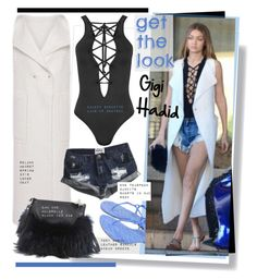 """Get the look: Gigi Hadid"" by hamaly ❤ liked on Polyvore featuring Tory Burch, Roland Mouret, Emm Kuo, WearAll and One Teaspoon"