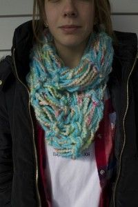 Our #DIY scarves - no knitting needles required!