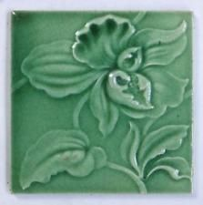 Antique Majolica Art Nouveau Tile  *12 AVAILABLE*