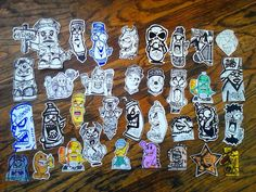 graffiti stickers by wizard1labels.deviantart.com on @DeviantArt
