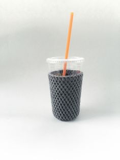 iced medium coffee cozy. gray coffee cozy. crochet cup cozy. Cotton cup sleeve. Eco friendly cup sleeve. Summer drink cozy. iced cup cozy. by SalemStyle on Etsy https://www.etsy.com/listing/287252505/iced-medium-coffee-cozy-gray-coffee-cozy