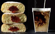 Dynamic Photos of Food Cut in Half.