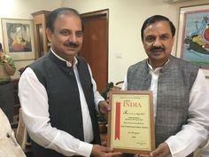 Shri Rakesh Kumar, Chairman, India Exposition Mart Ltd, Greater Noida felicitated by Shri Mahesh Sharma, Hon'ble Minister Of State [I/C] for Tourism and Culture with award given by Safari India and Patwa (Pacific Area Travel Writers Association) for his contribution to conceive, implement and run successfully the state-of-the art exhibition centre - India Exposition Mart Ltd [IEML] at Greater Noida and also for his overall contribution towards promoting exhibition industry. India Exposition…