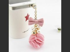 Strict New-1x Dust Plug Shaped Camellia Pearl Pink Diamond 3.5mm Earphone Glass Dust Cap Plug Earphone Plug Mobile Phone Accessories Dust Plug