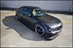 Check out this Matte Grey Bmw E46 3-Series Sedan widebody. Also featured in Eurotuner Mag.