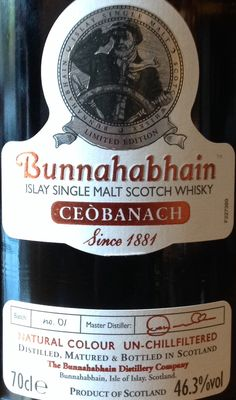 Bunnahabhain Ceobanach 46.3% Good Whiskey, Scotch Whiskey, Bourbon Whiskey, Whisky Islay, World Of Whisky, Whiskey Brands, Blended Whisky, Japanese Whisky, Single Malt Whisky