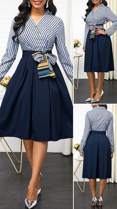 Criativo e ótimo Button Detail Side Zipper Belted Dress Button Detail Side Zipper Belted Dress H. Cute Dress Outfits, Classy Work Outfits, Stylish Outfits, Cute Dresses, Casual Dresses, Elegant Dresses Classy, Elegant Dresses For Women, Classy Dress, Beautiful Dresses