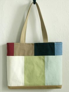 Tote Bag, Handmade Bag, Patchwork, Canvas Cotton, Japanese Tote Wedding Favors Gift Bag Ideas Once b Patchwork Bags, Quilted Bag, Crazy Patchwork, Patchwork Designs, Patchwork Patterns, Japanese Patchwork, Japanese Fabric, Denim Tote Bags, Canvas Tote Bags