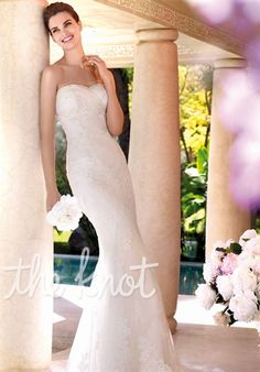 St. Patrick  Atenas    Complete Details    Gown features lace.  Silhouette: Mermaid  Neckline: Sweetheart  Gown Length: Floor  Train Style: Attached  Train Length: Chapel  Fabric: Tulle, Lace  Embellishments: Lace  Color: Ivory  Size: 4 - 24  Price: $$$   Price Guide