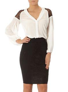 Kardashian cream lace blouse   #DPKK