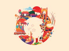Tet _ A circle tradition of Vietnamese culture 2018 gradian child market farm city happy new year unconditional traditional lucky money 2018 comma media vector flat design infographic design color illustration design character design character New Year Illustration, Graphic Design Illustration, Digital Illustration, Chinese New Year Design, Wow Art, Calendar Design, Vector Design, Doodle Art, Cover Design