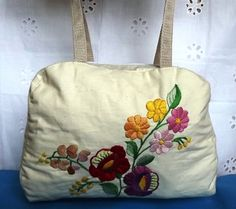 FREE SHIPPING Small bag with Kalocsa motifs by Mariannasboutique, $45.00