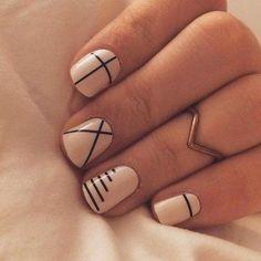 Funky Nails, Cute Nails, My Nails, Fall Nails, Minimalist Nails, Print No Instagram, Spring Nail Art, Spring Nails, Summer Nails
