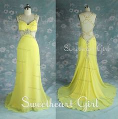 Processing time: 18 business days Shipping Time: 7-10 business days  Category: Occasion Dresses Material: Chiffon Color: Yellow
