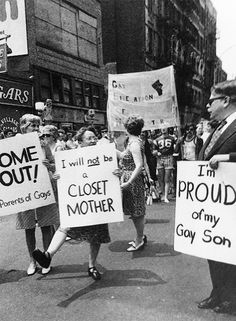 PFLAG members at the 1974 Gay Pride Parade in New York, 1974