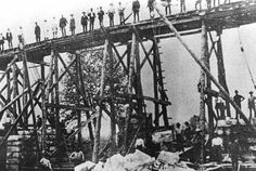 Building the Viaduct at Cumnock, East Ayrshire - 1910