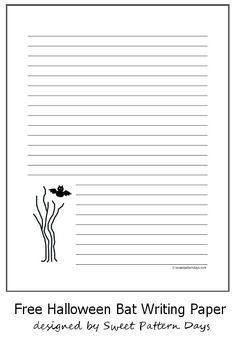 spooky free printable writing paper - Printable Halloween Writing Paper