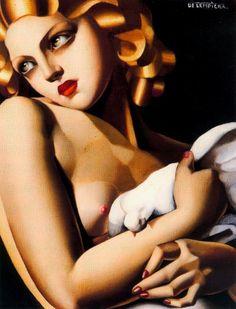 Datura   cavetocanvas: Femme a la Colombe - Tamara de...