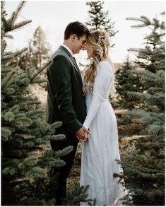 Jordy B Photo - Tree farm photoshoot tree farm pictures. Bridal p Bridal Poses, Wedding Poses, Wedding Ideas, Wedding Inspiration, Party Wedding, Wedding Portraits, Wedding Dresses, Wedding Bells, Dream Wedding