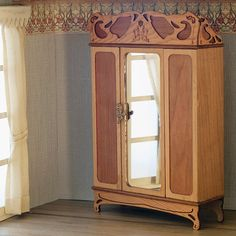 Hey, I found this really awesome Etsy listing at https://www.etsy.com/listing/205371256/art-nouveau-wardrobe-for-bedroom