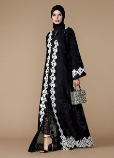 Abaya Collection: Abaya is common now a day in fashion. Malbus introduce latest & awesome abaya collection for girls in different design and colors. Arab Fashion, Islamic Fashion, Muslim Fashion, Modest Fashion, Sporty Fashion, Fashion Women, Luxury Fashion, Abaya Designs, Modest Wear