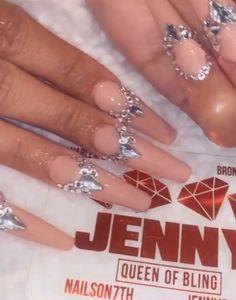 Cardi B nails for the Grammys Cardi B Nails, Nail Art, Long Nails, Tattoo, Bling Bling, Beauty, Nail Arts, Tattoos, Beauty Illustration