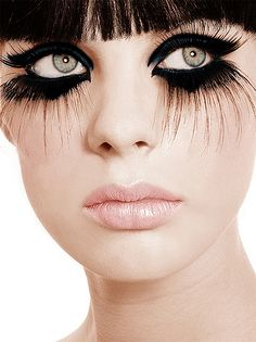 Very bold and very black fake lashes