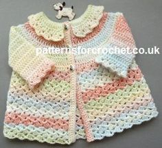 Baby jacket #free crochet pattern  T HIS BLOG AND THE POSTINGS ON IT TO MY GROUPS ARE DIRECTLY IN SUPPORT OF CANCER RESEARCH ANY EARNINGS...