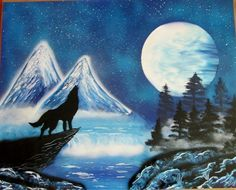 large wolf spray paint art wolf decor wolf christmas gifts for kids unique home decor by FloralFantasyDreams Spray Paint Artwork, Gloss Spray Paint, Spray Painting, Galaxy Painting, Galaxy Art, Art Wolfe, Largest Wolf, Superhero Wall Art, Wolf Painting